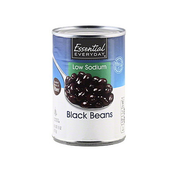 Essential Everyday Black Beans Can 425g